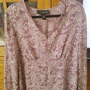 Semi sheer tunic blouse